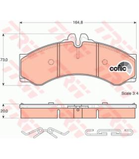 TRW COTEC Kit pastiglie freno GDB1288