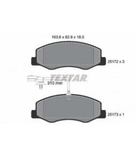 TEXTAR Kit pastiglie freno, Freno a disco  con sensore usura integrato Numero articolo: 2517201