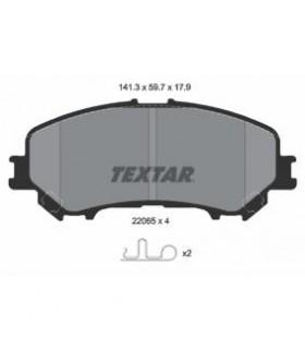 TEXTAR Kit pastiglie freno, Freno a disco  con segnalatore acustico usura Numero articolo: 2206501