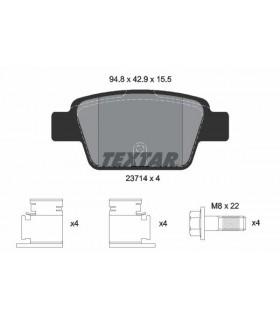TEXTAR Kit pastiglie freno FIAT - LANCIA  senza contatto segnalazione usura, con bulloni pinza freno