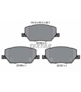 TEXTAR Kit pastiglie freno, Freno a disco  con segnalatore acustico usura Numero articolo: 2216501