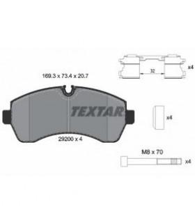 Kit pastiglie freno, Freno a disco TEXTAR Predisposto per contatto segnalazione usura, con bulloni pinza freno, con accessori