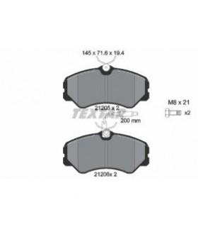 TEXTAR Kit pastiglie freno, Freno a disco  con sensore usura integrato, con bulloni pinza freno Numero articolo: 2120501