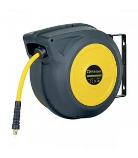 Avvolgitubo automatico per aria compressa. Diametro Ø tubo interno 11x16 mm. Lunghezza tubo 15 metri