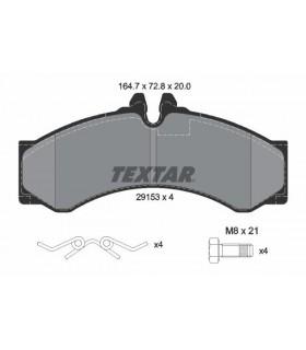 TEXTAR Kit pastiglie freno, Freno a disco  Predisposto per contatto segnalazione usura Numero articolo: 2915301