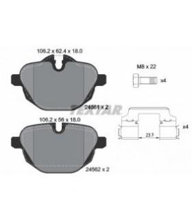 TEXTAR Kit pastiglie freno con contatto segnalazione usura, con bulloni pinza freno, con accessori Numero articolo: 2456101