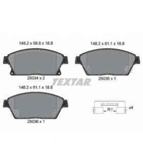 TEXTAR Kit pastiglie freno, Freno a disco  con segnalatore acustico usura, con accessori Numero articolo: 2503401