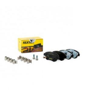 TEXTAR Kit pastiglie freno,con segnalatore acustico usura, con bulloni pinza freno, con accessori Numero articolo: 2398202