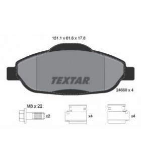 TEXTAR Kit pastiglie freno, con bulloni pinza freno, con accessori Numero articolo: 2466001