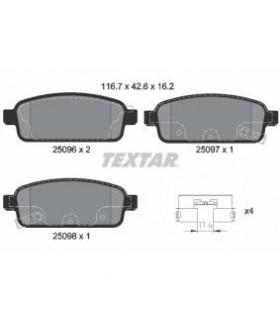 TEXTAR Kit pastiglie freno, Freno a disco  con segnalatore acustico usura Numero articolo: 2509602