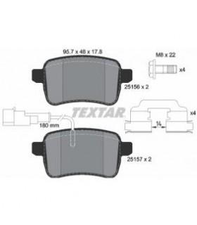 TEXTAR Kit pastiglie freno, Freno a disco  con sensore usura integrato Numero articolo: 2515601