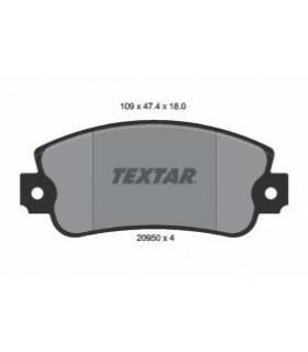TEXTAR Kit pastiglie freno, Freno a disco  senza contatto segnalazione usura Numero articolo: 2095005
