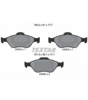 TEXTAR Kit pastiglie freno, Freno a disco  con segnalatore acustico usura Numero articolo: 2402201