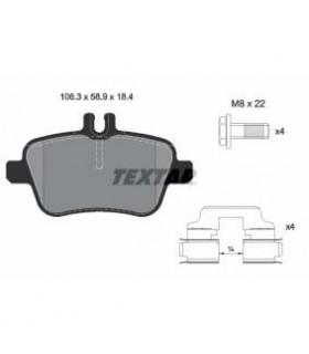 TEXTAR Kit pastiglie freno, con bulloni pinza freno, con accessori Numero articolo: 2484801