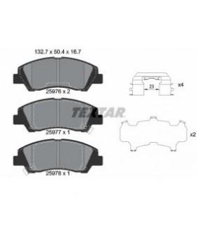 TEXTAR Kit pastiglie freno, Freno a disco  con segnalatore acustico usura, con accessori Numero articolo: 2597601