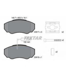 TEXTAR Kit pastiglie freno,con sensore usura integrato, con bulloni pinza freno, con accessori Numero articolo: 2391701