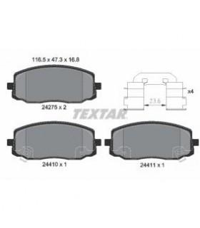 TEXTAR Kit pastiglie freno, Freno a disco  con segnalatore acustico usura Numero articolo: 2427501
