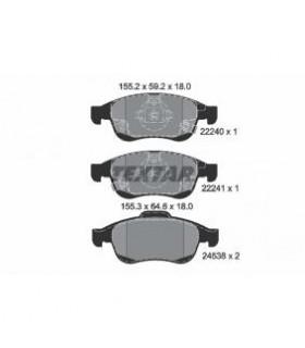TEXTAR Kit pastiglie freno, Freno a disco  con segnalatore acustico usura Numero articolo: 2224001