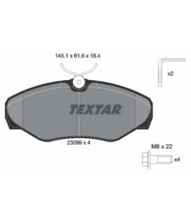 TEXTAR Kit pastiglie freno, Freno a disco  Con contatto segnalazione usura, con bulloni pinza freno Numero articolo: 2309902