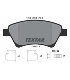 TEXTAR Kit pastiglie freno, Freno a disco  senza contatto segnalazione usura, con bulloni pinza freno Numero articolo: 2393001