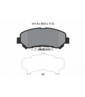 TEXTAR Kit pastiglie freno, Freno a disco  Predisposto per contatto segnalazione usura Numero articolo: 2463201