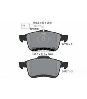 TEXTAR Kit pastiglie freno, Freno a disco  con sensore usura integrato Numero articolo: 2472901