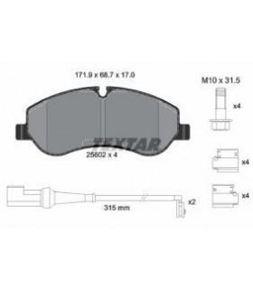 TEXTAR Kit pastiglie freno, Freno a disco  Con contatto segnalazione usura,  con accessori Numero articolo: 2560201