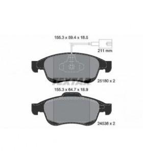 TEXTAR Kit pastiglie freno, Freno a disco  con sensore usura integrato Numero articolo: 2518001