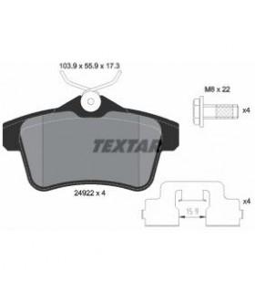 TEXTAR Kit pastiglie freno, Freno a disco  Non predisposto per contatto segnalazione usura Numero articolo: 2492201