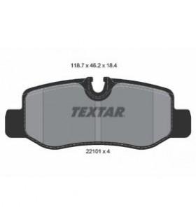 TEXTAR Kit pastiglie freno, Freno a disco  Predisposto per contatto segnalazione usura Numero articolo: 2210101