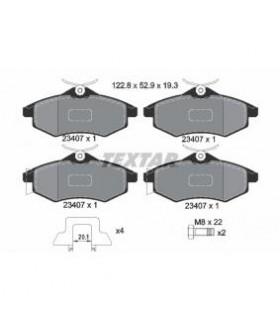 TEXTAR Kit pastiglie freno, Freno a disco  senza contatto segnalazione usura, con accessori Numero articolo: 2340702