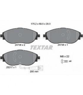 TEXTAR Kit pastiglie freno, Freno a disco  con sensore usura integrato Numero articolo: 2473803