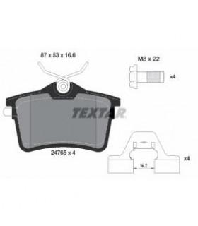 TEXTAR Kit pastiglie freno, con bulloni pinza freno, con accessori Numero articolo: 2476501
