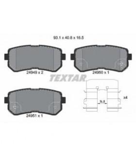 TEXTAR Kit pastiglie freno, Freno a disco  con segnalatore acustico usura Numero articolo: 2494901