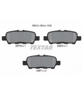 TEXTAR Kit pastiglie freno, Freno a disco  con segnalatore acustico usura Numero articolo: 2577801