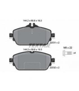 TEXTAR Kit pastiglie freno, Freno a disco  Predisposto per contatto segnalazione usura, con bulloni pinza freno