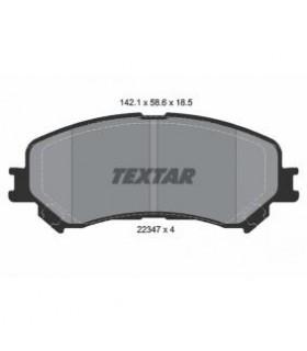 TEXTAR Kit pastiglie freno, Freno a disco Predisposto per contatto segnalazione usura