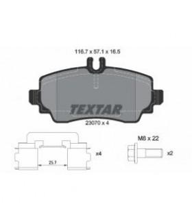 TEXTAR Kit pastiglie freno, con bulloni pinza freno, con accessori Numero articolo: 2307004