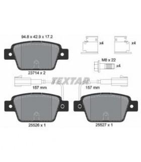 TEXTAR Kit pastiglie freno, Freno a disco  con sensore usura integrato Numero articolo: 2371403