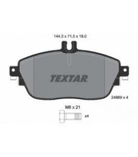 TEXTAR Kit pastiglie freno, con bulloni pinza freno Numero articolo: 2486901
