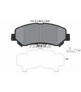 TEXTAR Kit pastiglie freno, Freno a disco  Con contatto segnalazione usura Numero articolo: 2520201