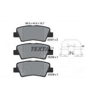 TEXTAR Kit pastiglie freno, Freno a disco  con segnalatore acustico usura Numero articolo: 2533701