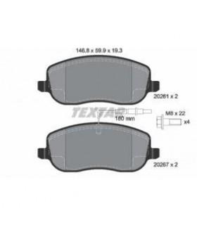 TEXTAR Kit pastiglie freno, Freno a disco  con sensore usura integrato, con bulloni pinza freno Numero articolo: 2026101