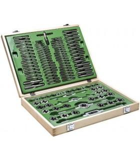 Fasano FG 70/S110 | Set valigetta 110 maschi e filiere in acciaio cromato