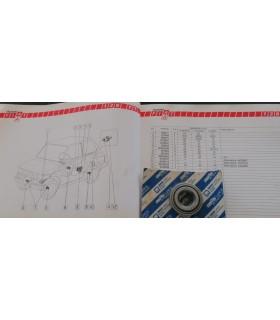 CUSCINETTO RUOTA ANT. INTERNO FIAT 126- 600- 850- SKF 639175 FIAT 60055388