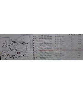 BORSA PORTACARTE  ORIGINALE FIAT CODICE 718388060 LATO DESTRO PER FIAT PUNTO E PUNTO GT