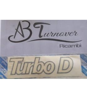 """7591042 SCRITTA """"TURBO D"""" COFANO ANTERIORE FIAT DUCATO 2.5 TD RICAMBIO NUOVO"""