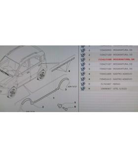 Protezione Modanatura POSTERIORE  DESTRA FIAT PANDA 100 HP  735427187