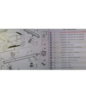 Minigonna-modanatura sotto porta destra Fiat punto 3porte 1999/2010  735276209