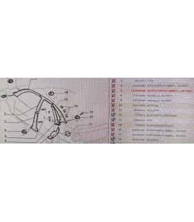 Fiat Tempra Rivestimento Interno Montante Posteriore Sinistro 181449480